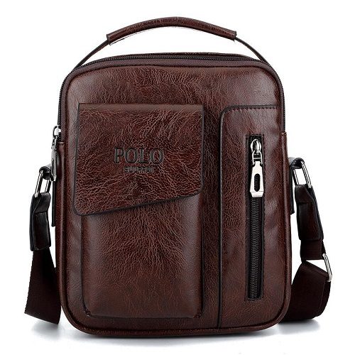 New leather men's shoulder bag