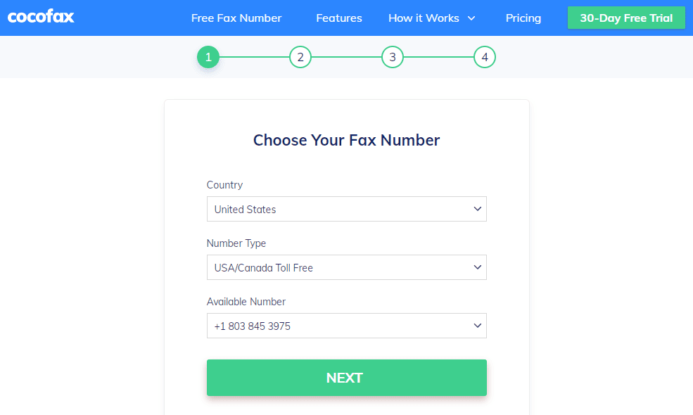Register with CocoFax