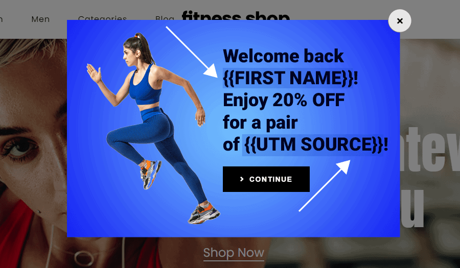 personalized popups personalize landing pages for ads growmatik