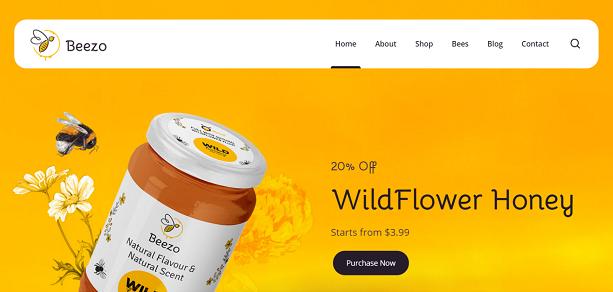 BEEZO - Honey WordPress Theme
