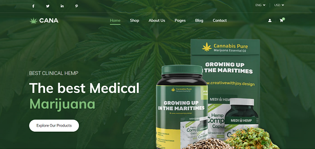 Cana - Marijuana WordPress Theme