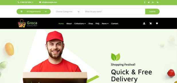 Groca - Grocery Store WordPress Theme