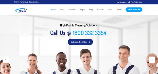 Kleanz - Cleaning Service WordPress Theme