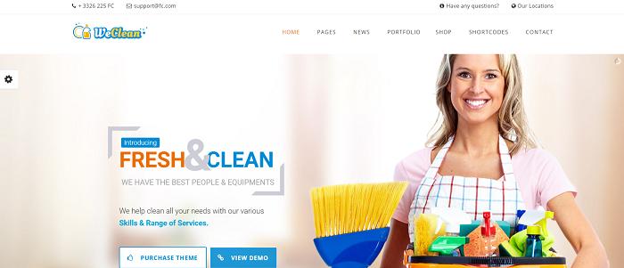 We Clean - Cleaning WordPress